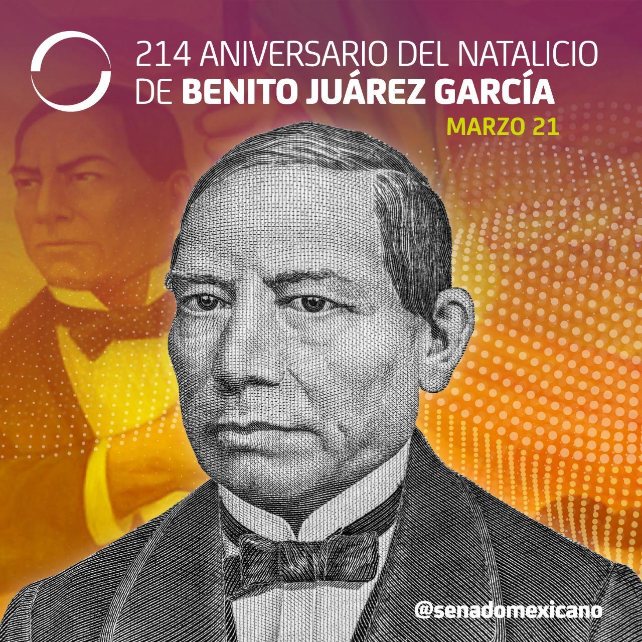 214 Aniversario del Natalicio de Benito Juárez García